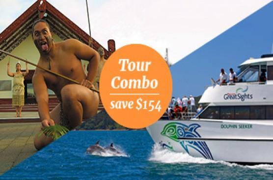 Waitomo Caves & Rotorua Sights + Bay of Islands Combo Tour - Auckland Return